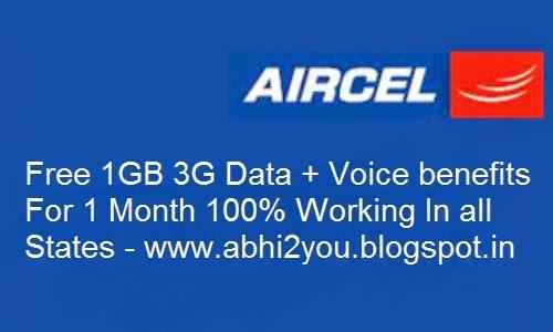 Aircel Free  GB G Data abhiyou