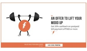 freecharge post offer new users