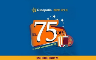 cinepolis Rs  off on movie tickets worth Rs  or more loot