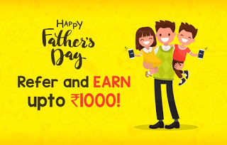 mobikwik refer and earn father day special