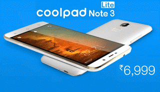 coolpad note  lite lowest price in india