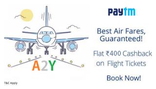 paytm rs cashback on flights
