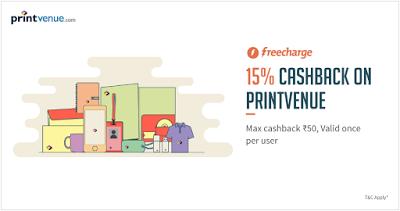 printvenue freecharge  cashback loot offer deal