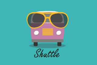 Shuttle app logo with name abhiyou